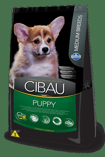 Ração Cibau Puppy para Cães Filhotes Raças Médias 15Kg