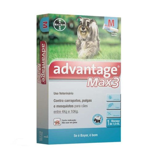 ANTIPULGAS ADVANTAGE MAX 3 CAES M 1,0ML