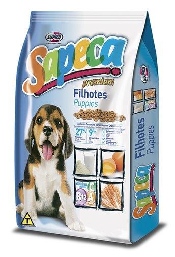 Ração Sapeca Premium para Cães Filhotes 20Kg