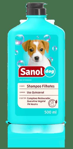 SANOL DOG SHAMPOO FILHOTES 500ML