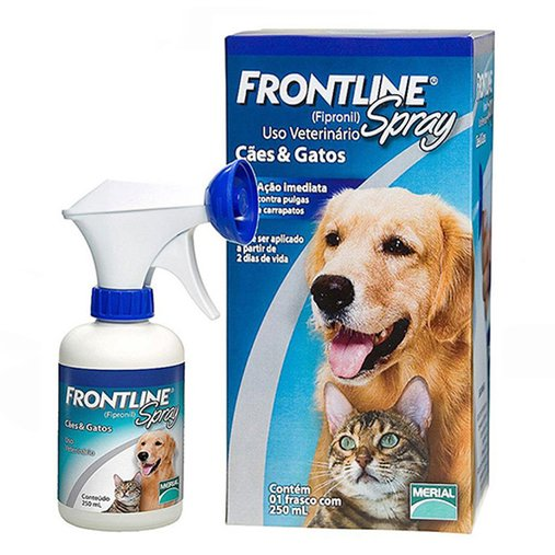 ANTIPULGAS FRONTLINE SPRAY PARA CAES E GATOS 250ML