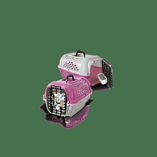 CAIXA TRANSPORTE PANTHER N3 ROSA PLAST PET