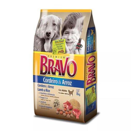 Ração Bravo para Cães Adultos Sabor Cordeiro e Arroz 15Kg