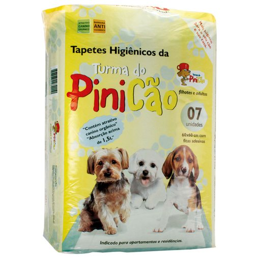 TAPETE HIGIENICO TURMA DO PINICAO C/ 7 UN 60X60 CM