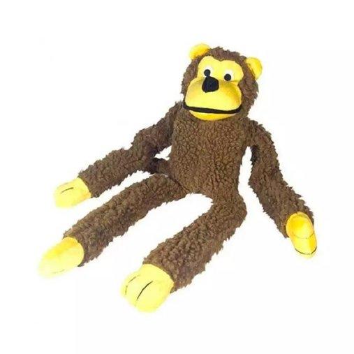 Brinquedo de Pelúcia Macaco Chalesco Marrom para Cães