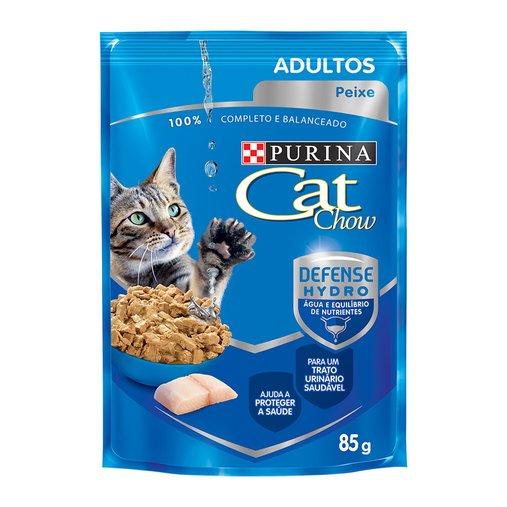Sachê Cat Chow para Gatos Adultos Sabor Peixe ao Molho 85g