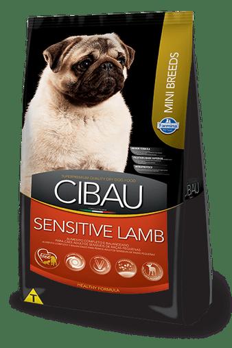 Ração Cibau Sensitive Lamb para Cães Adultos Raças Pequenas 3Kg