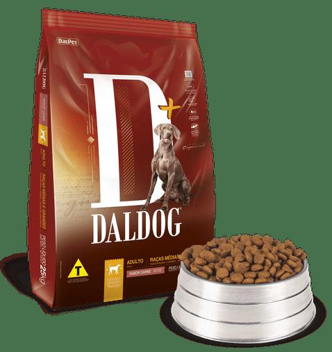 Ração Daldog D+ para Cães Adultos Raças Médias e Grandes Sabor Carne 15Kg
