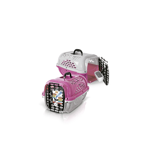 CAIXA TRANSPORTE PANTHER N2 ROSA PLAST PET