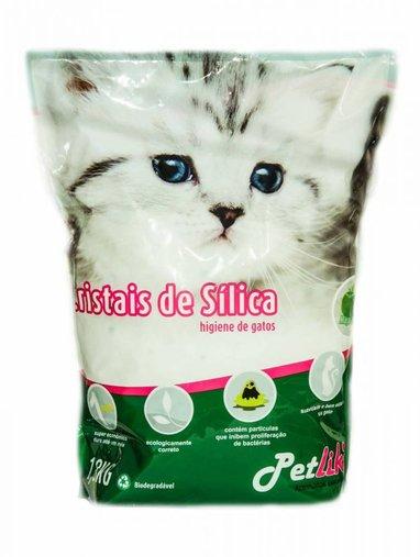 AREIA CRISTAIS DE SILICA PETLIKE NATURAL 1,6KG