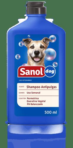 SANOL DOG SHAMPOO ANTIPULGAS 500ML