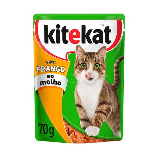 Sachê Kitekat para Gatos Sabor Frango ao Molho 70g