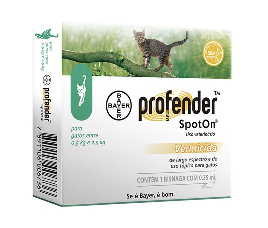 PROFENDER SPOT ON 0,5KG A 2,5KG 0,35ML***