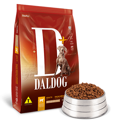 Ração Daldog D+ para Cães Adultos Raças Médias e Grandes Sabor Frango e Arroz 15Kg