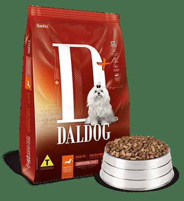 Ração Daldog D+ para Cães Adultos Raças Pequenas Sabor Carne 10,1Kg
