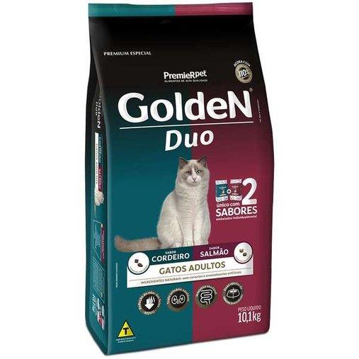 Ração Golden Duo para Gatos Adultos Sabor Cordeiro e Salmão 10,1Kg