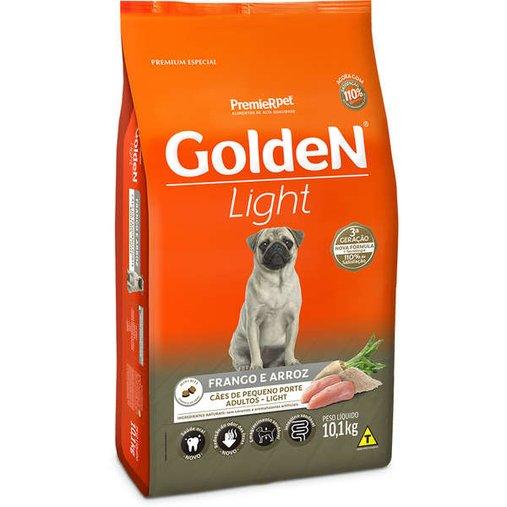 Ração Golden Light para Cães Adultos Raças Pequenas Sabor Frango e Arroz 10,1Kg