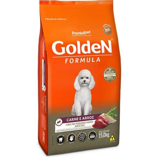 Ração Golden para Cães Adultos Raças Pequenas Sabor Carne e Arroz 15Kg