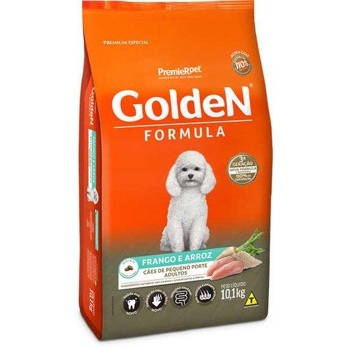 Ração Golden para Cães Adultos Raças Pequenas Sabor Frango e Arroz 10,1Kg