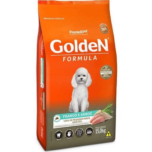 Ração Golden para Cães Adultos Raças Pequenas Sabor Frango e Arroz 15Kg