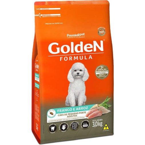 Ração Golden para Cães Adultos Raças Pequenas Sabor Frango e Arroz 3Kg