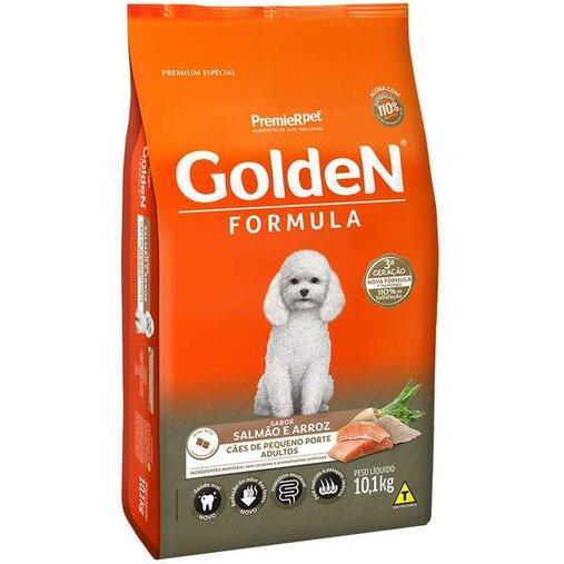 Ração Golden para Cães Adultos Raças Pequenas Sabor Salmão e Arroz 10,1Kg