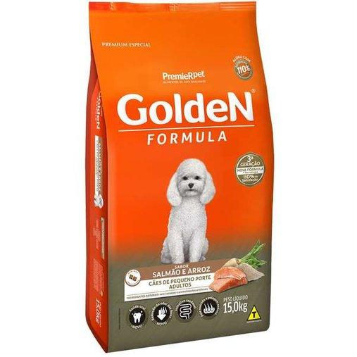 Ração Golden para Cães Adultos Raças Pequenas Sabor Salmão e Arroz 15Kg