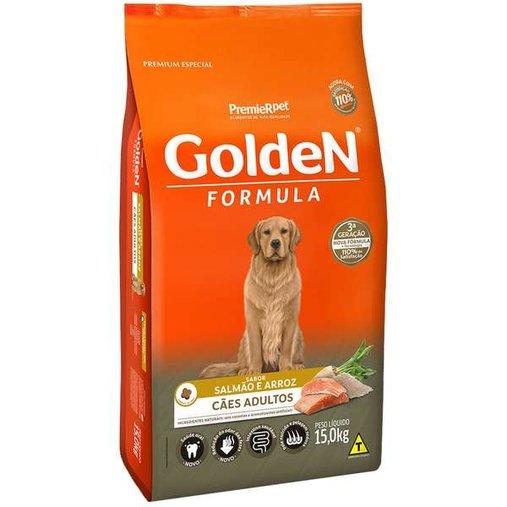 Ração Golden para Cães Adultos Sabor Salmão e Arroz 15Kg