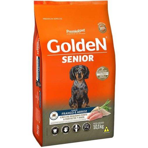 Ração Golden para Cães Adultos Sênior Raças Pequenas Sabor Frango e Arroz 10,1Kg