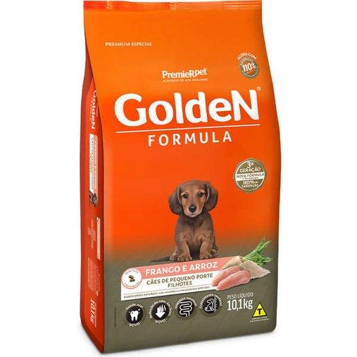 Ração Golden para Cães Filhotes Raças Pequenas Sabor Frango e Arroz 10,1Kg