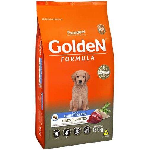 Ração Golden para Cães Filhotes Sabor Carne e Arroz 15Kg