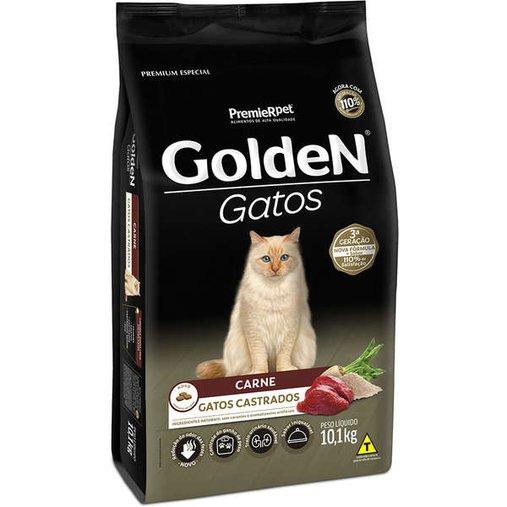 Ração Golden para Gatos Castrados Sabor Carne 10,1Kg