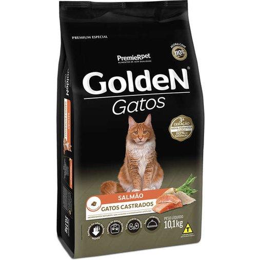 Ração Golden para Gatos Castrados Sabor Salmão 10,1Kg