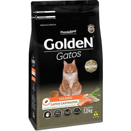 Ração Golden para Gatos Castrados Sabor Salmão 1Kg