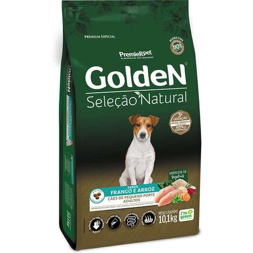 Ração Golden Seleção Natural para Cães Adultos Raças Pequenas Sabor Frango e Arroz 10,1Kg
