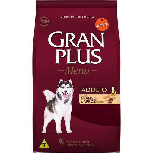 Ração Gran Plus Menu para Cães Adulto Sabor Carne e Arroz 20Kg