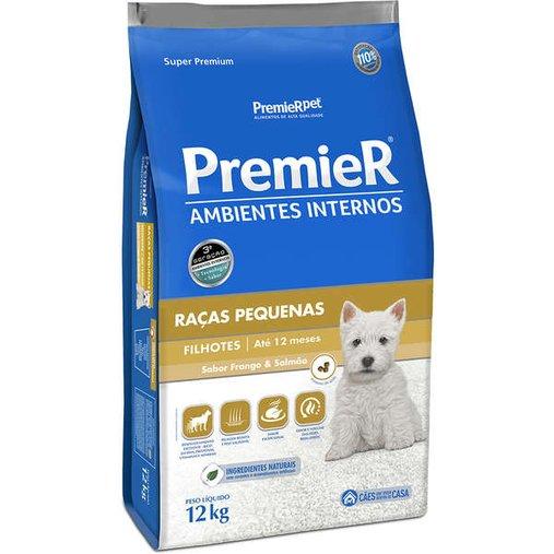 Ração Premier Ambientes Internos para Cães Filhotes Raças Pequenas 12Kg