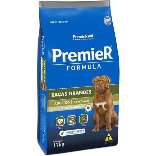 Ração Premier Fórmula para Cães Adultos Raças Grandes Sabor Cordeiro 15Kg