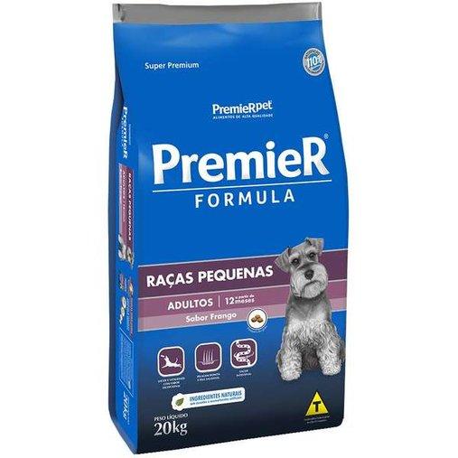 Ração Premier Fórmula para Cães Adultos Raças Pequenas Sabor Frango 20Kg