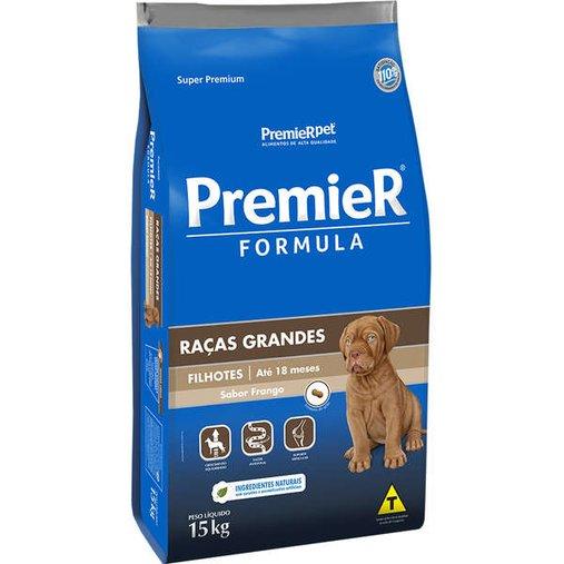 Ração Premier Fórmula para Cães Filhotes Raças Grandes Sabor Frango 15Kg