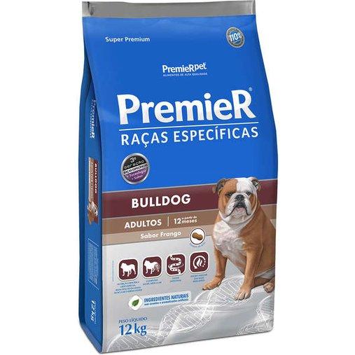 Ração Premier Raças Específicas Bulldog Adultos para Cães Sabor Frango 12Kg