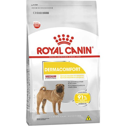 Ração Royal Canin Medium Dermacomfort para Cães Adultos 10,1Kg