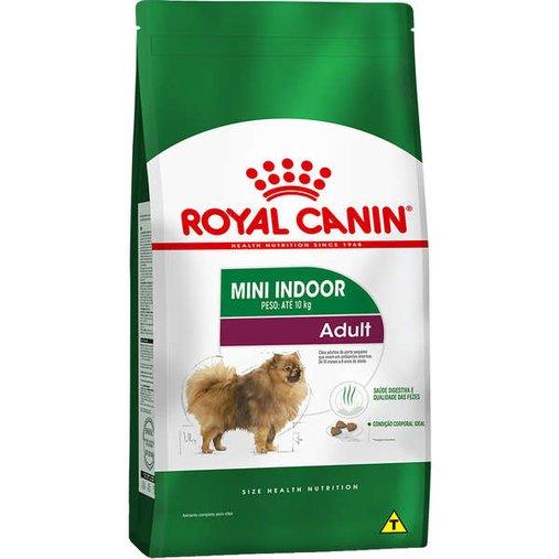 Ração Royal Canin Mini Indoor para Cães Adultos 7,5Kg